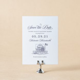 Dockside Save the Date design