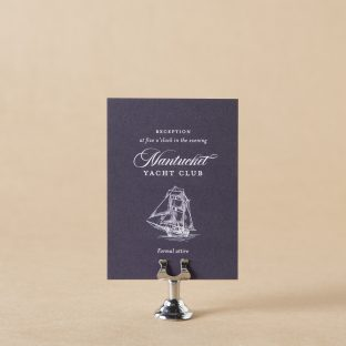 Dockside Reception Card design
