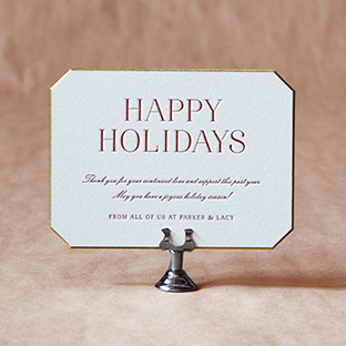 Thayer Holiday design