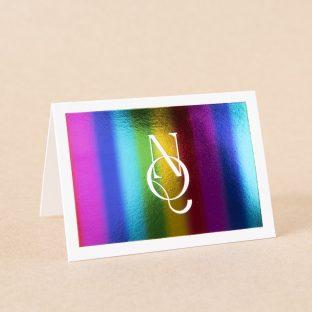 Iridian thank you card design