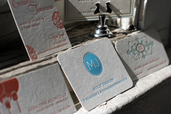 Letterpress business cards smock letterpress business card or personalized calling card stationery reheart Image collections