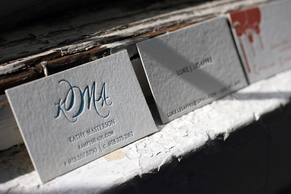Custom letterpress business cards smock letterpress business card or personalized calling card stationery colourmoves Choice Image