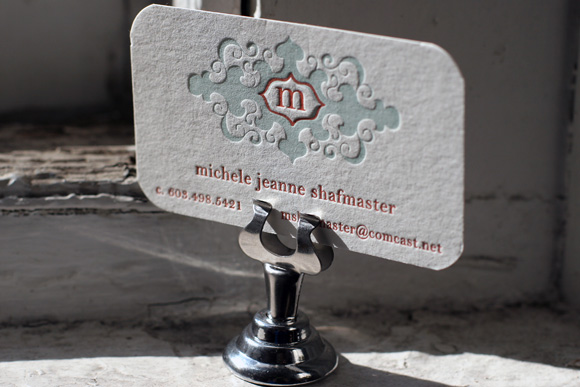 Custom letterpress business cards smock letterpress business card or personalized calling card stationery reheart Image collections