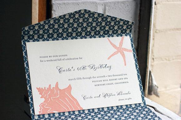 Custom letterpress birthday invitations smock customizations letterpress invitations filmwisefo Images