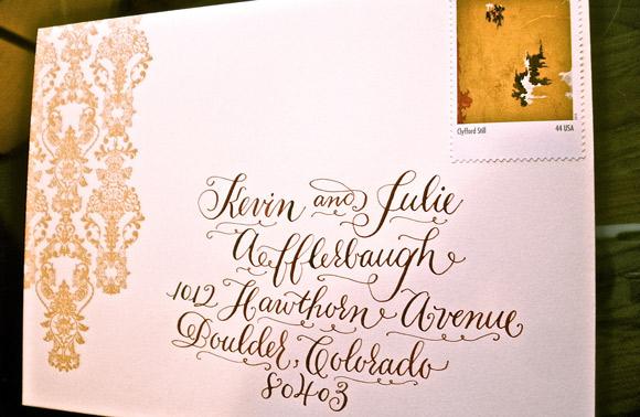Calligraphy addressing smock