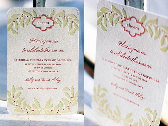 letterpress holiday invitations Smock – Letterpress Party Invitations