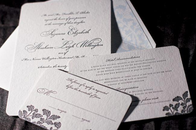 Good Font Combinations For Wedding Invitations: Haddington
