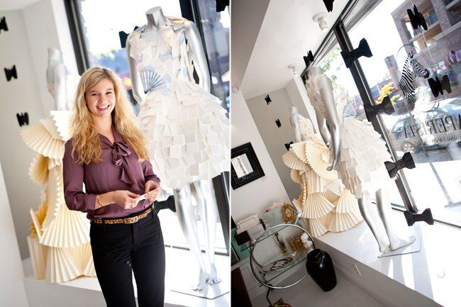 Rika VanHeerde Snyder -- paper dress designer