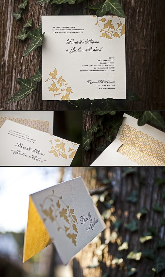 Wedding Gift Nyc Amount : inks: eggplant + saffron fonts: graham + tally paper: 2-ply ivory ...