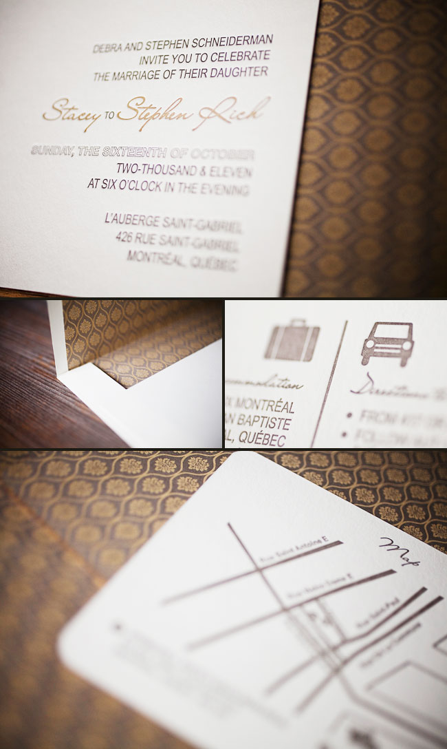 vintage typography letterpress invitation