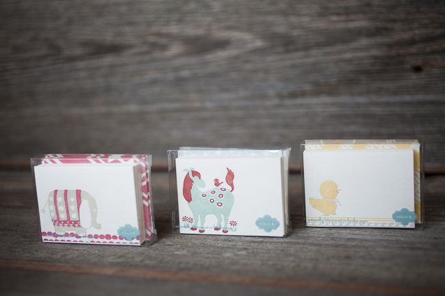 Petite folded cards from Smock are a perfect stocking stuffer for a child who loves writing special notes!