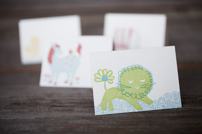 These little letterpress notes are perfect for gift tags or sweet little lunchbox notes.