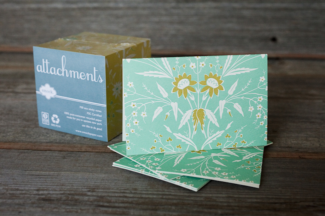These lovely floral greeting cards pair perfectly with this cube of sticky notes -- a great gift for a stationery lover.