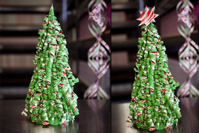 Final steps to the Smock paper trees holiday DIY project