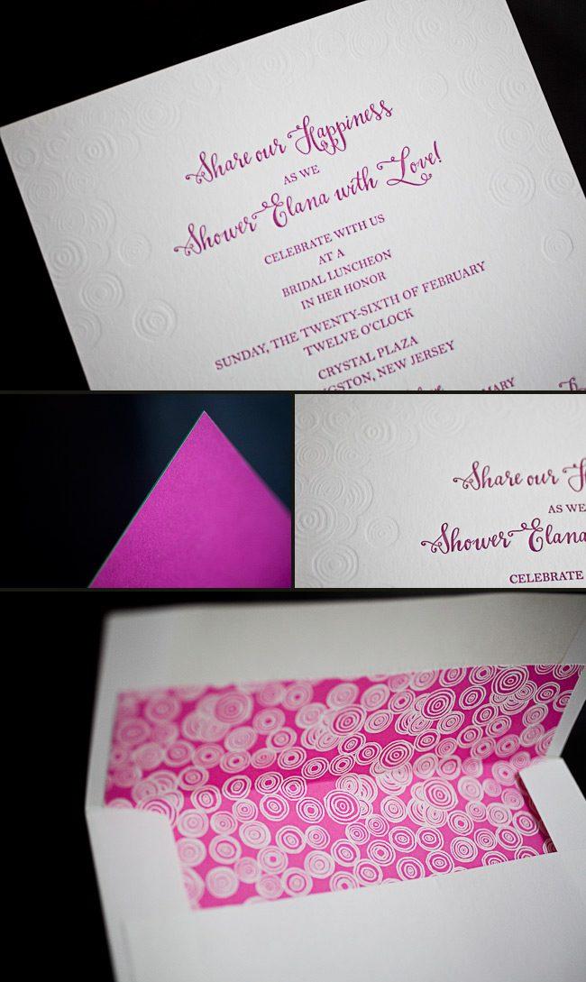 Bridal shower invitations smock colorful letterpress bridal shower invitations filmwisefo