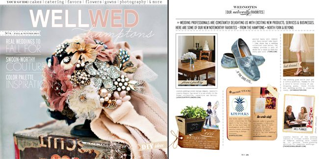 Well Wed featured a set of custom Smock invitations in their Fall/Winter 2011 edition
