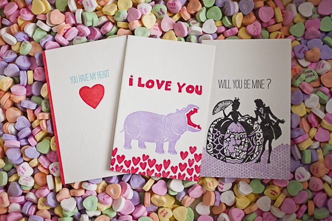 A sampling of Smock's favorite Valetnine's Day love cards for 2012
