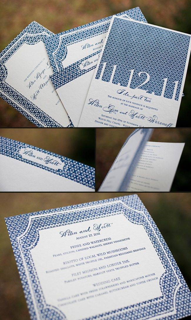 custom letterpress invitations
