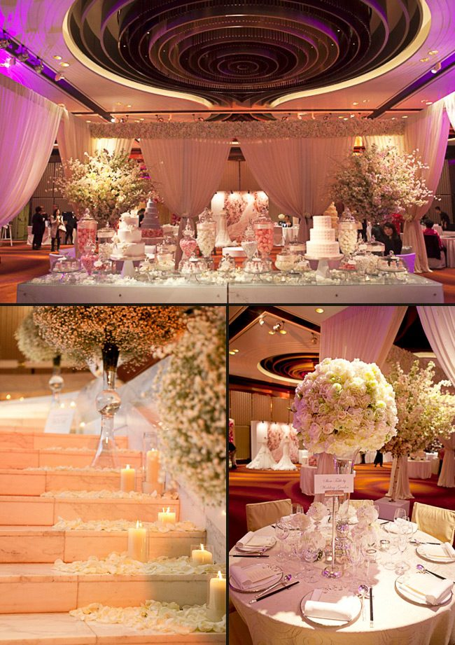 The Wedding Company in Hong Kong put on a bridal event with gorgeous displays, including an elegant Smock Display