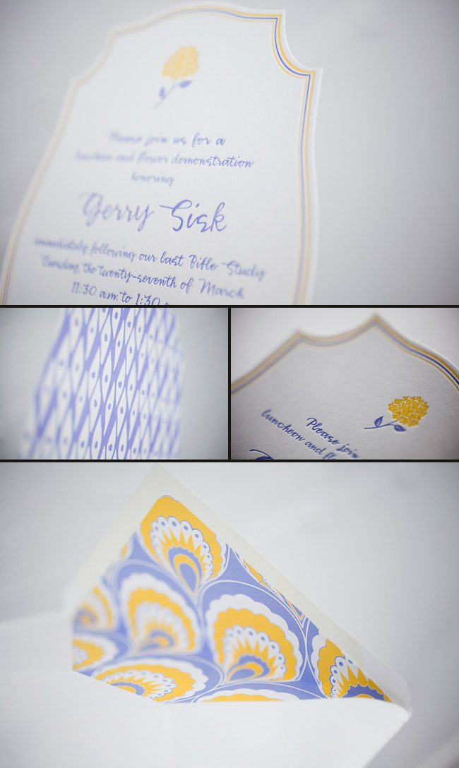 modern and coloful wedding invitations