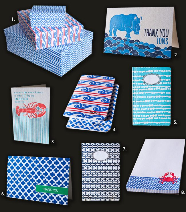 Blue is one hot color for spring 2012! Check out Smock's top picks for blue stationery products this spring