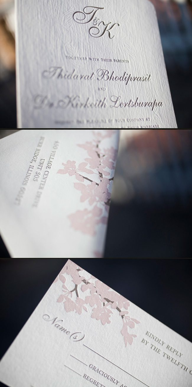 organic letterpress wedding inspiration