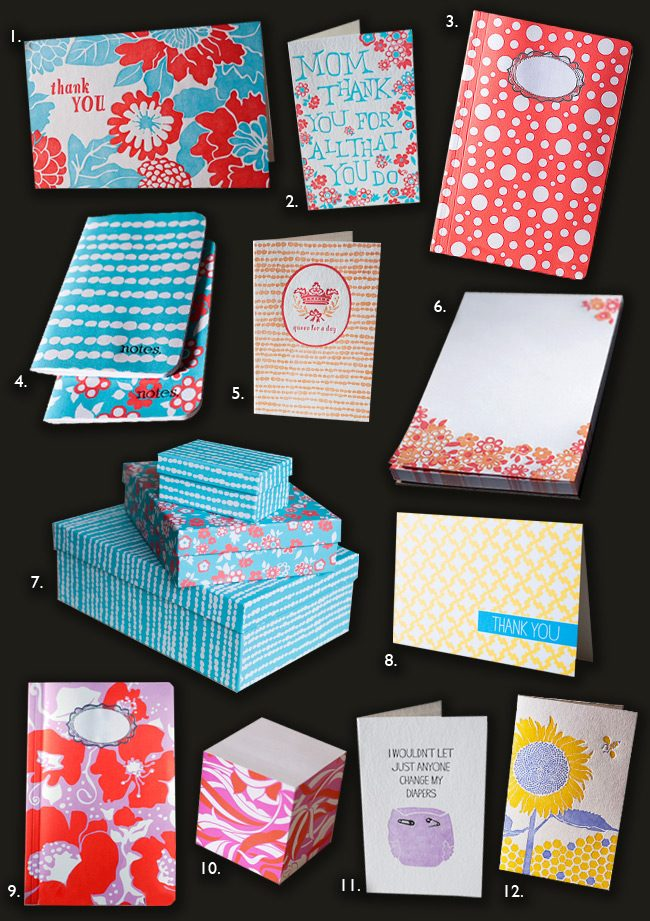 Smock's 2012 Mother's Day stationery gift guide