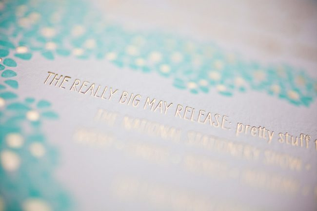 Smock's 2012 National Stationery Show invitation - complete with foil stamping and hand calligraphed envelopes