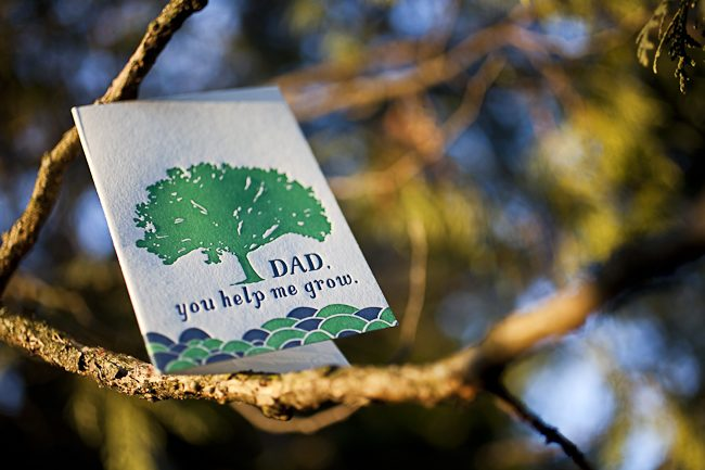 A letterpress Father's Day card from Smock, new for 2012