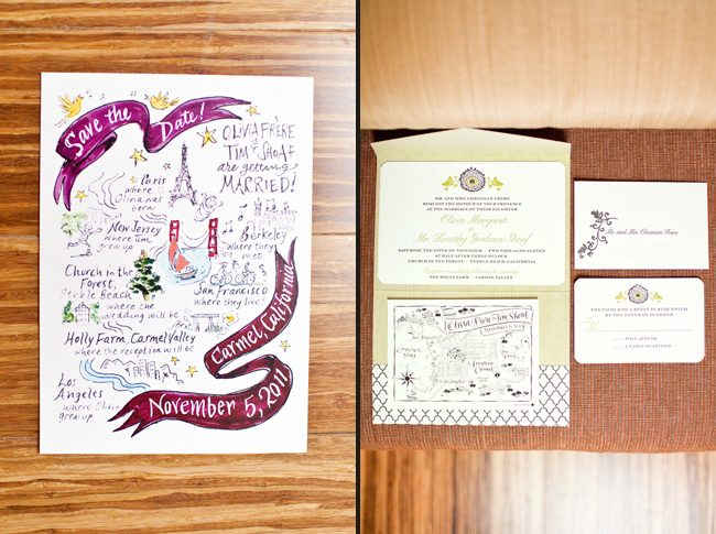 Olivia's Smock wedding invitations, featuring our Ossa design