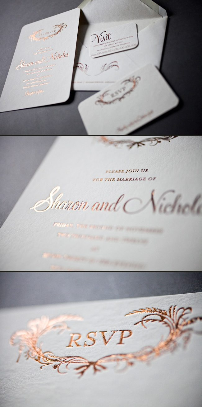 Our foil wedding invitations are unique and elegant