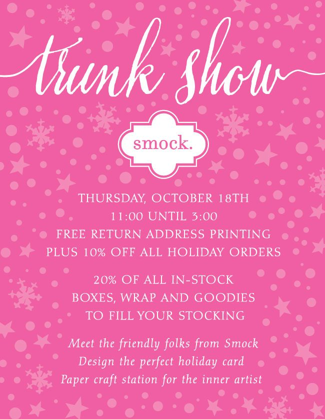Trunk Show Smock