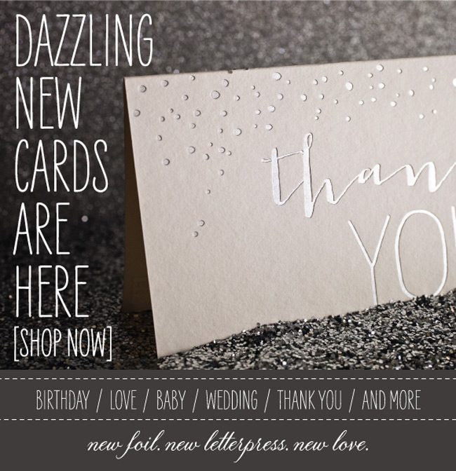 New foil + letterpress cards from Smock are on sale now