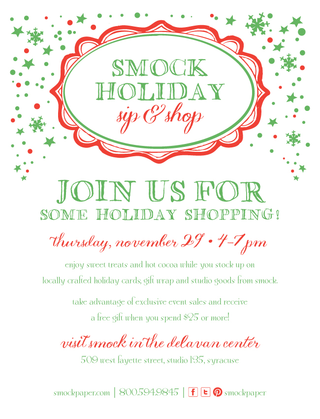 On Thursday, November 29 Smock will host an open shopping event from 4-7pm!