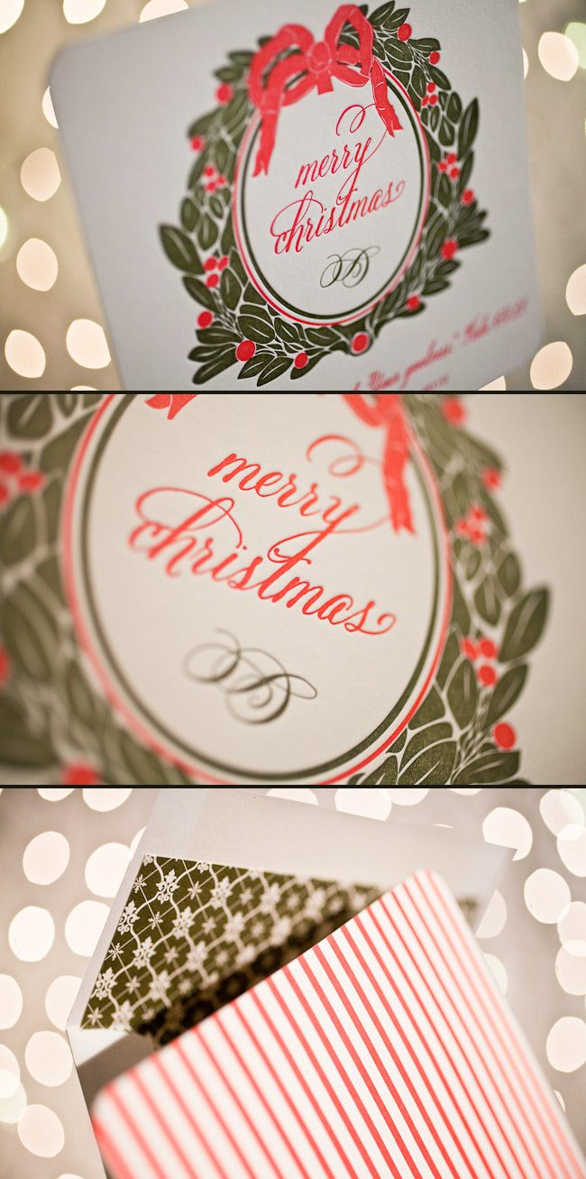 Custom Christmas Cards in lovely letterpress inks