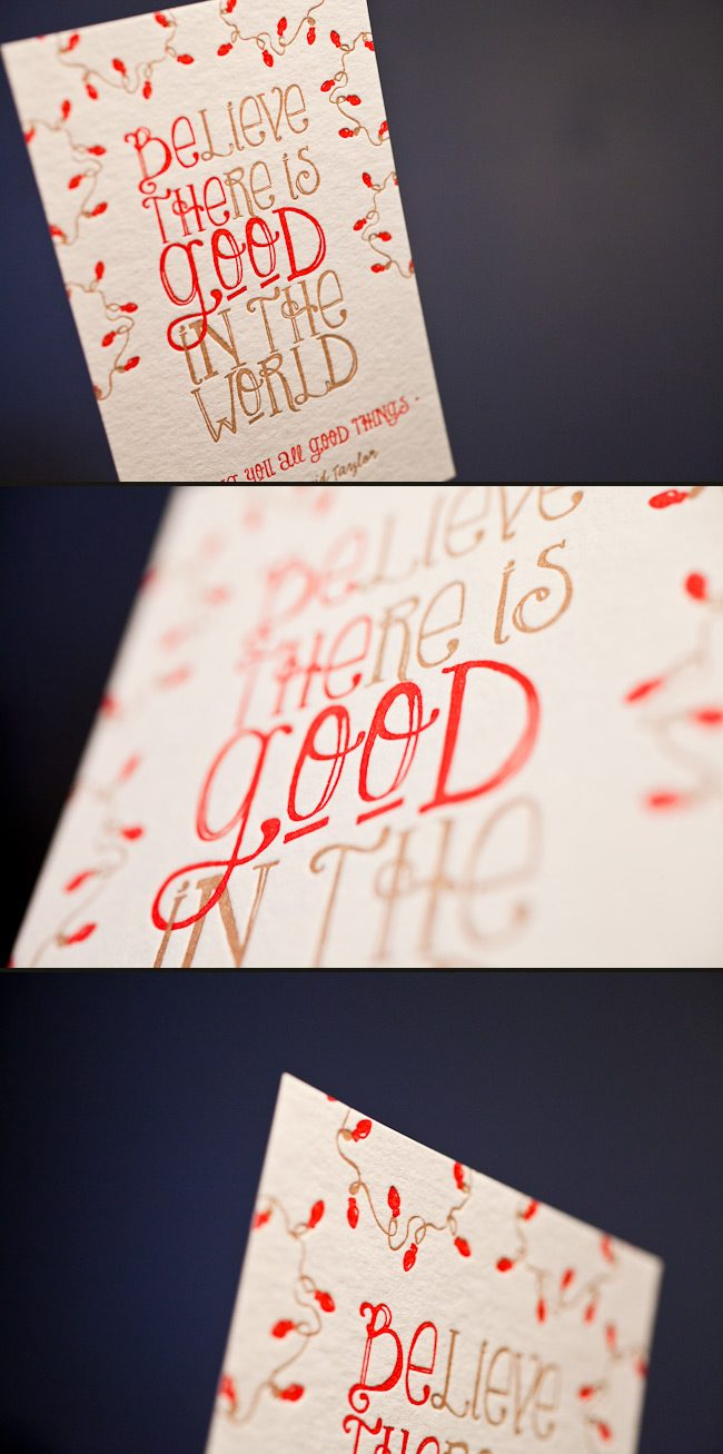 You can order custom holiday cards in your favorite colors.