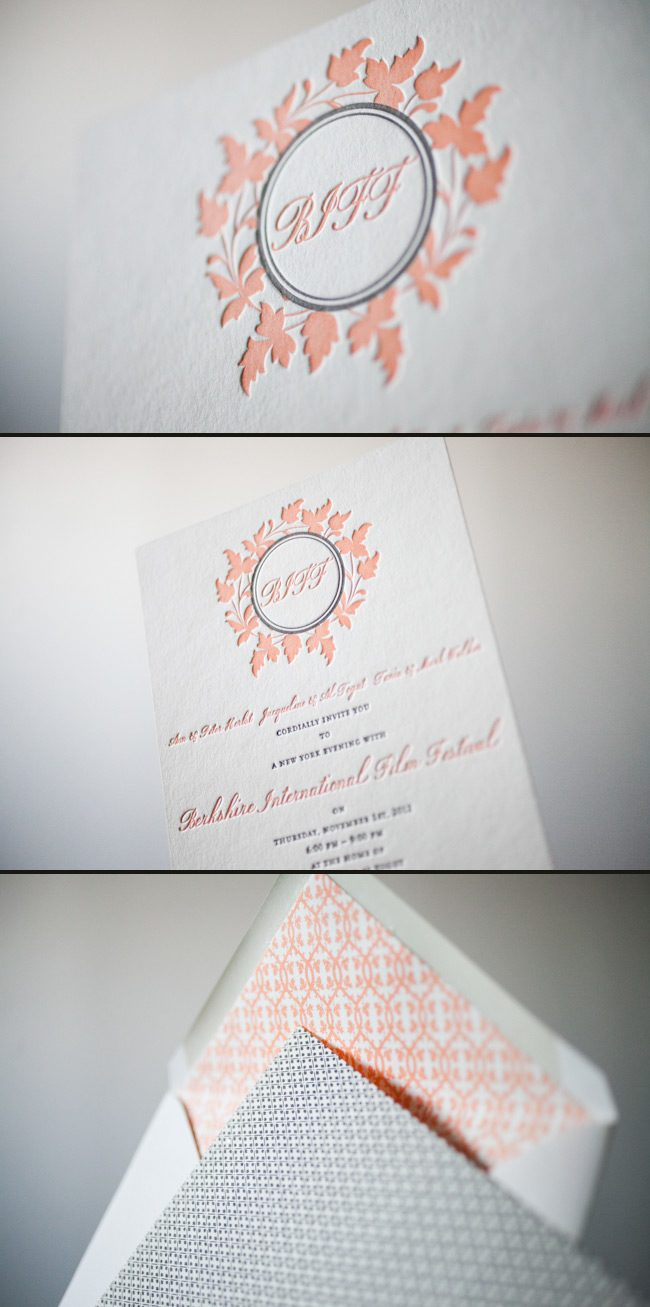 Tangerine and espresso inks look lovely letterpressed