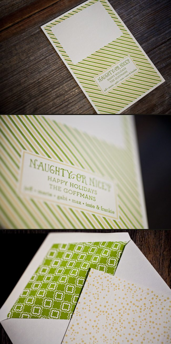 We can letterpress print custom holiday days in your favorite combinations
