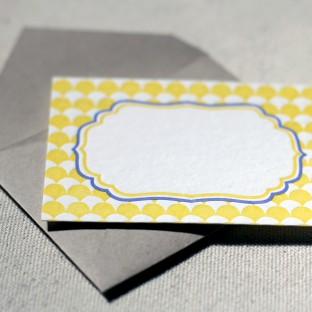 Pollen letterpress gift tags