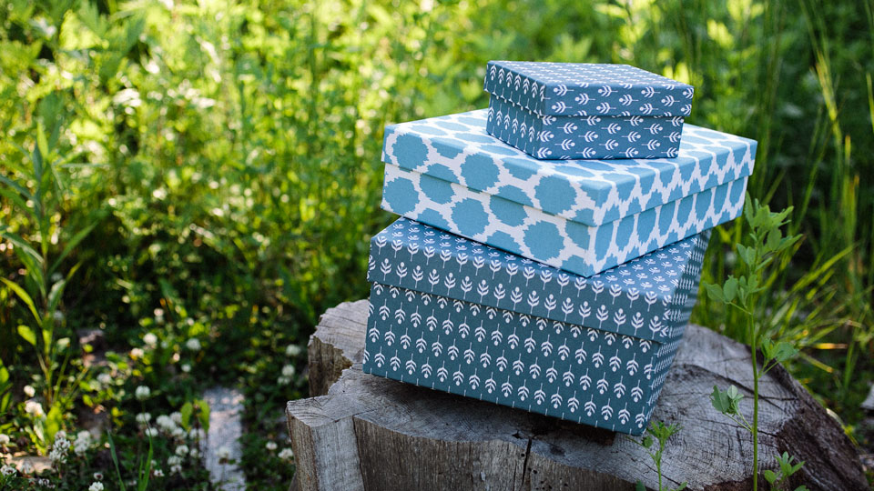 Eco-friendly keepsake boxes from Smock