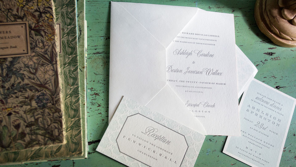 Smock custom wedding invitations