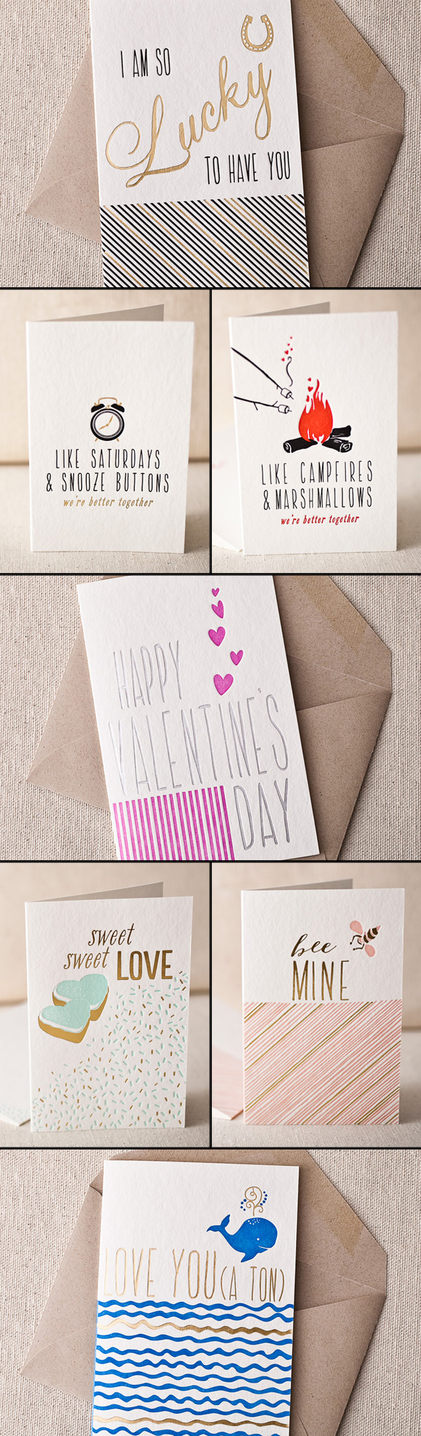 These love cards from Smock are quirky and sweet for Valentine's Day