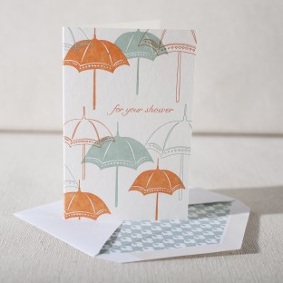 Shower letterpress card