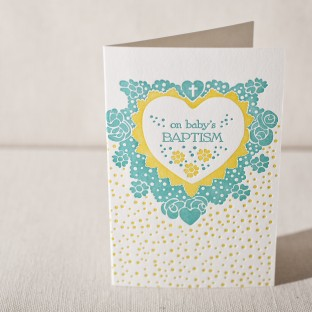 Sprinkle letterpress card
