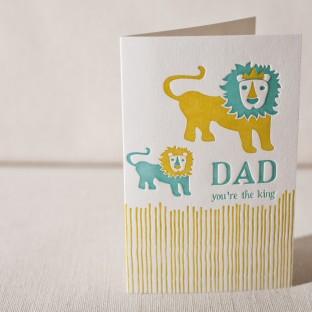 Lions letterpress card