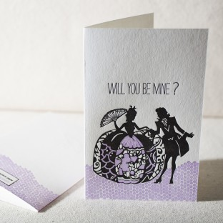 Will You Be Mine letterpress card