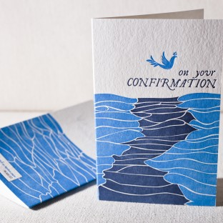 Confirmation letterpress card