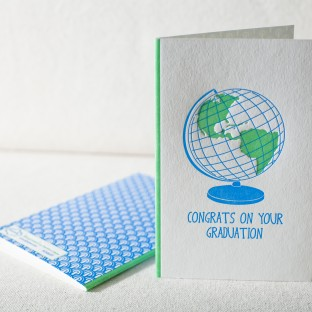 Welcome To The Real World letterpress card