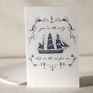 Only Ship letterpress card