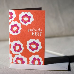 You're The Best greeting card (offset)